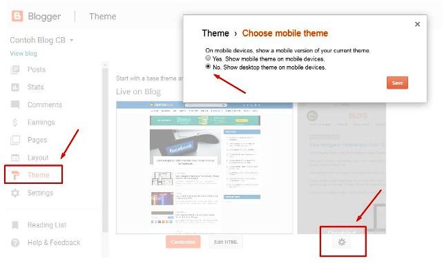 menonaktifan template mobile bawaan Blogger