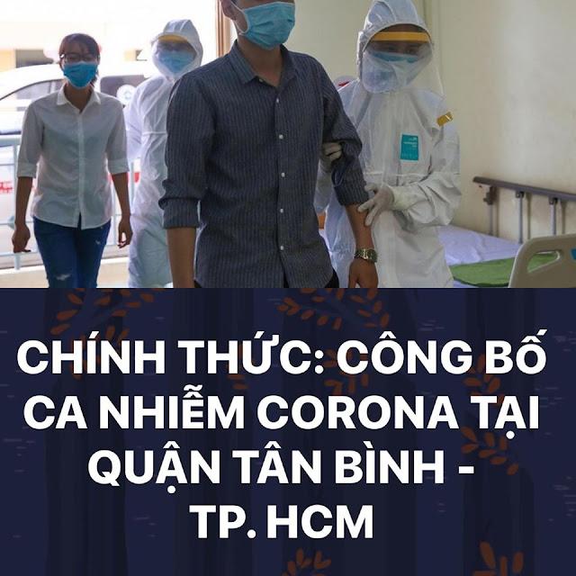 Chính thức công bố ca nhiễm Corona tại quận Tân Bình - TP Hồ Chí Minh