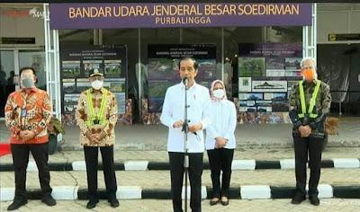 Presiden Jokowi Kunjungan Kerja Ke Bandara Jenderal Besar Soedirman Wirasaba
