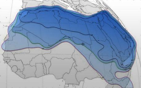 Nilesat 201 - Eutelsat 7 West A @ 7° West