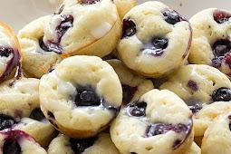 BLUEBERRY PANCAKE BITES #desserts #freezerfriendly