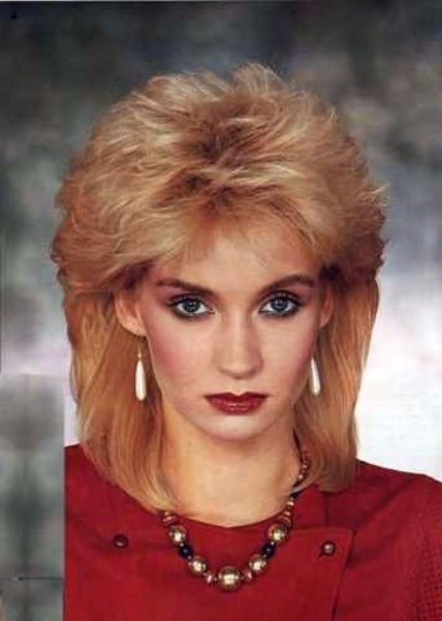 Remarkable Vintage Everyday 1980S The Period Of Women Rock Hairstyle Boom Hairstyles For Men Maxibearus