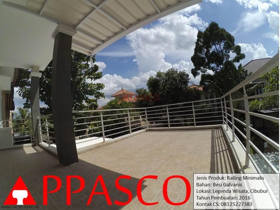 Railing Balkon Minimalis di Legenda Wisata Cibubur
