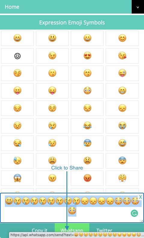 how to share emojis symbols on whatsapp