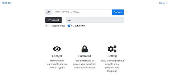 NihLink Safelink Premium Template Blogger