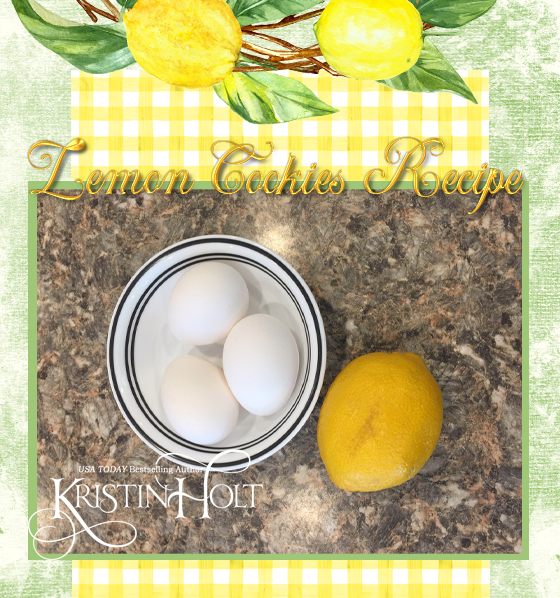 Kristin Holt | Lemon Cookies Recipe (1895) step 2: allow eggs (and lemon) to come to room temp, too.