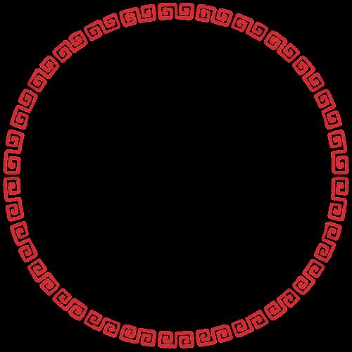 雷紋のフレーム素材(丸・大)