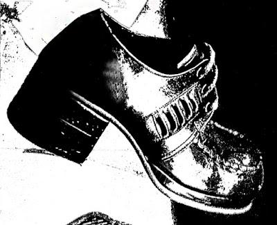 sapato masculino década de 70; moda masculina anos 70; salto carrapeta