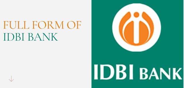 full form of idbi bank