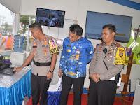 Berikan Pelayanan Prima Kepada Pemudik, Kapolres Lampung Utara Launching SMS Blaster