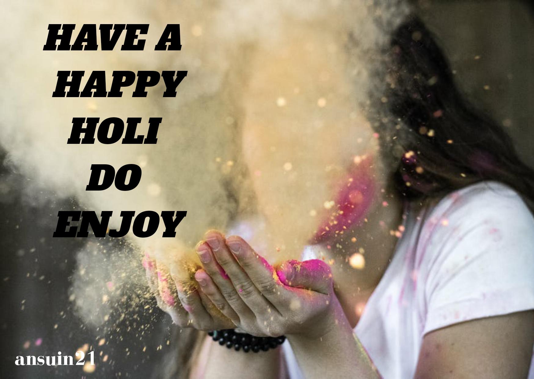 Best Beautiful Happy Holi Wishes In English, Status, Cute happy holi photo, Massage, Happy Holi whatsaap HD Images,