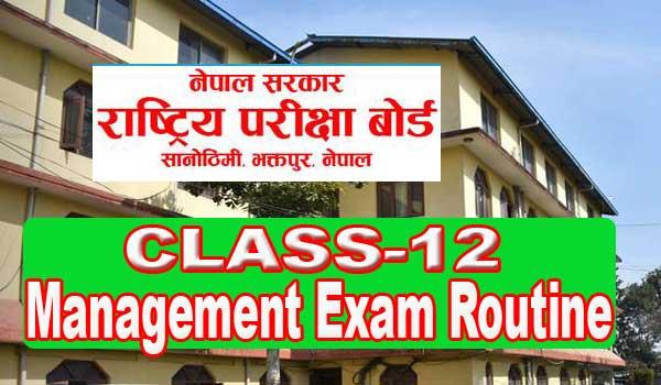 Class 12 Exam Routine 2078