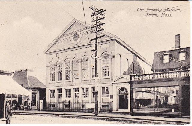 East India Marine Hall, Peabody Essex Museum, Salem, Massachusetts, antique, postcard