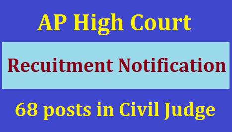 AP High Court Recruitmnet For 68 Posts in Civil Judge(Junior Division) 2020
