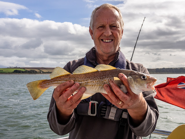 Photo of Phil with biggest codling he caught on Monday