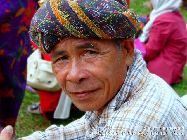 Kadazan man, people, street portrait, headshot, Kadazan headgear, East Malaysia, Borneo, Sabah, Kudat central market