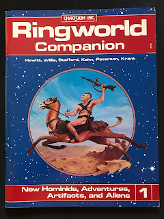 Cover of the Ringworld Companion, published by Chaosium.