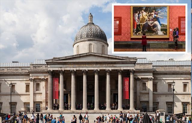 Galeria Nacional de Londres e obra-prima de Gentileschi dentro da galeria