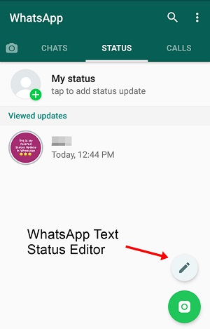 whatsapp colored status