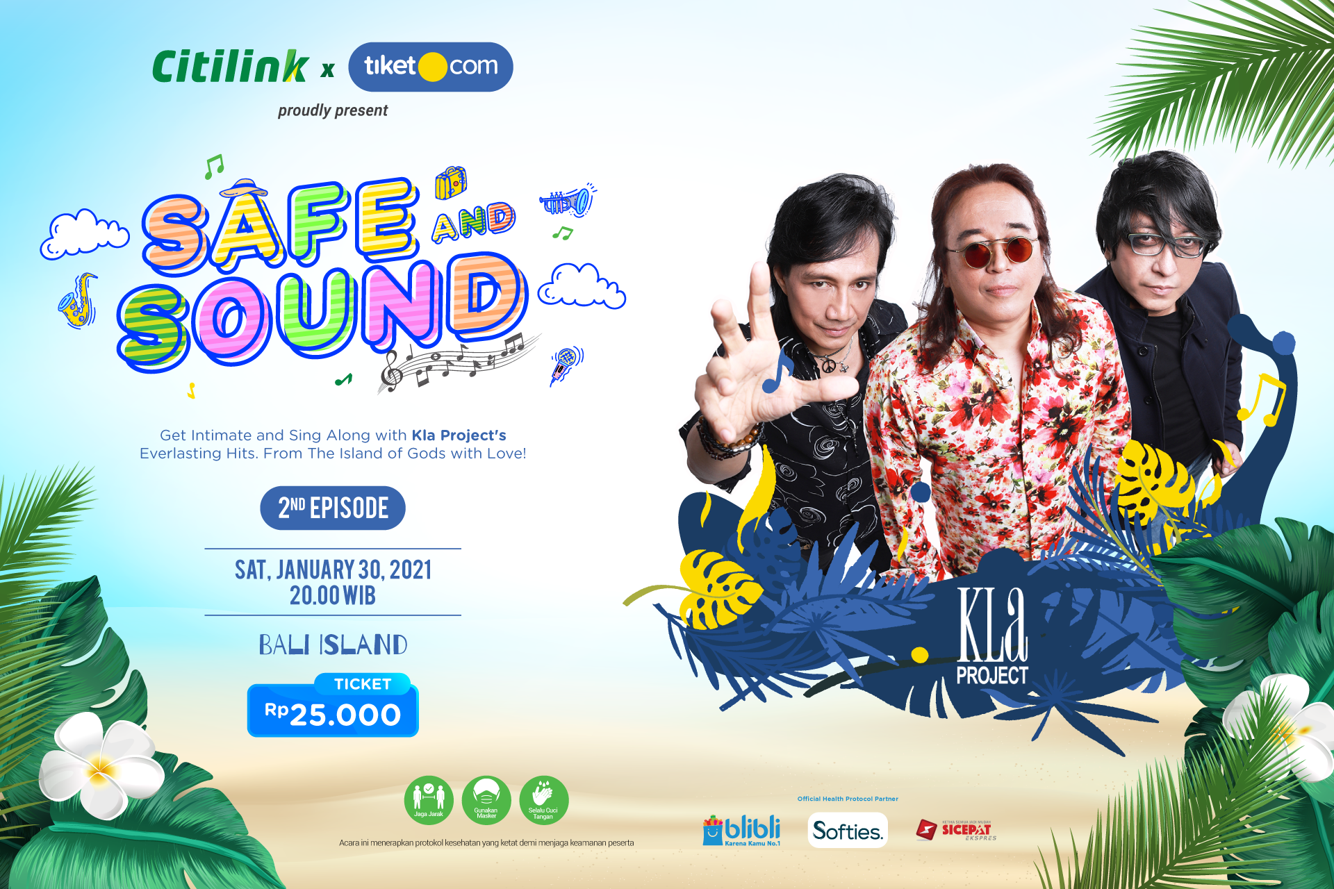 KLa Project Akan Tampil di Konser Safe and Sound from Bali Episode 2