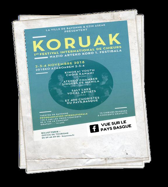 1er Festival International des choeurs KORUAK Bayonne 2018