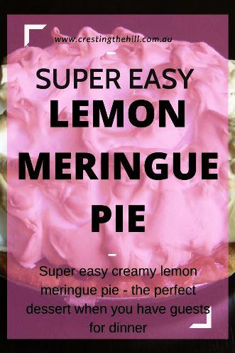 A super easy lemon meringue pie - light, creamy, sweet and delicious.