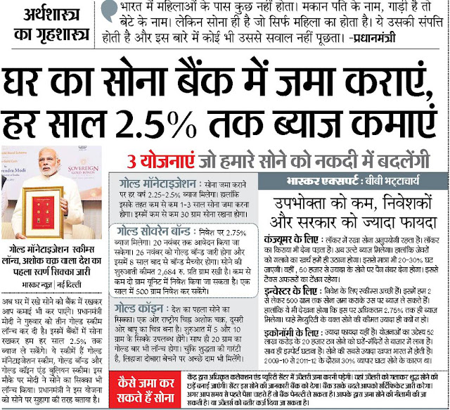 Gold Monetization Scheme in Hindi