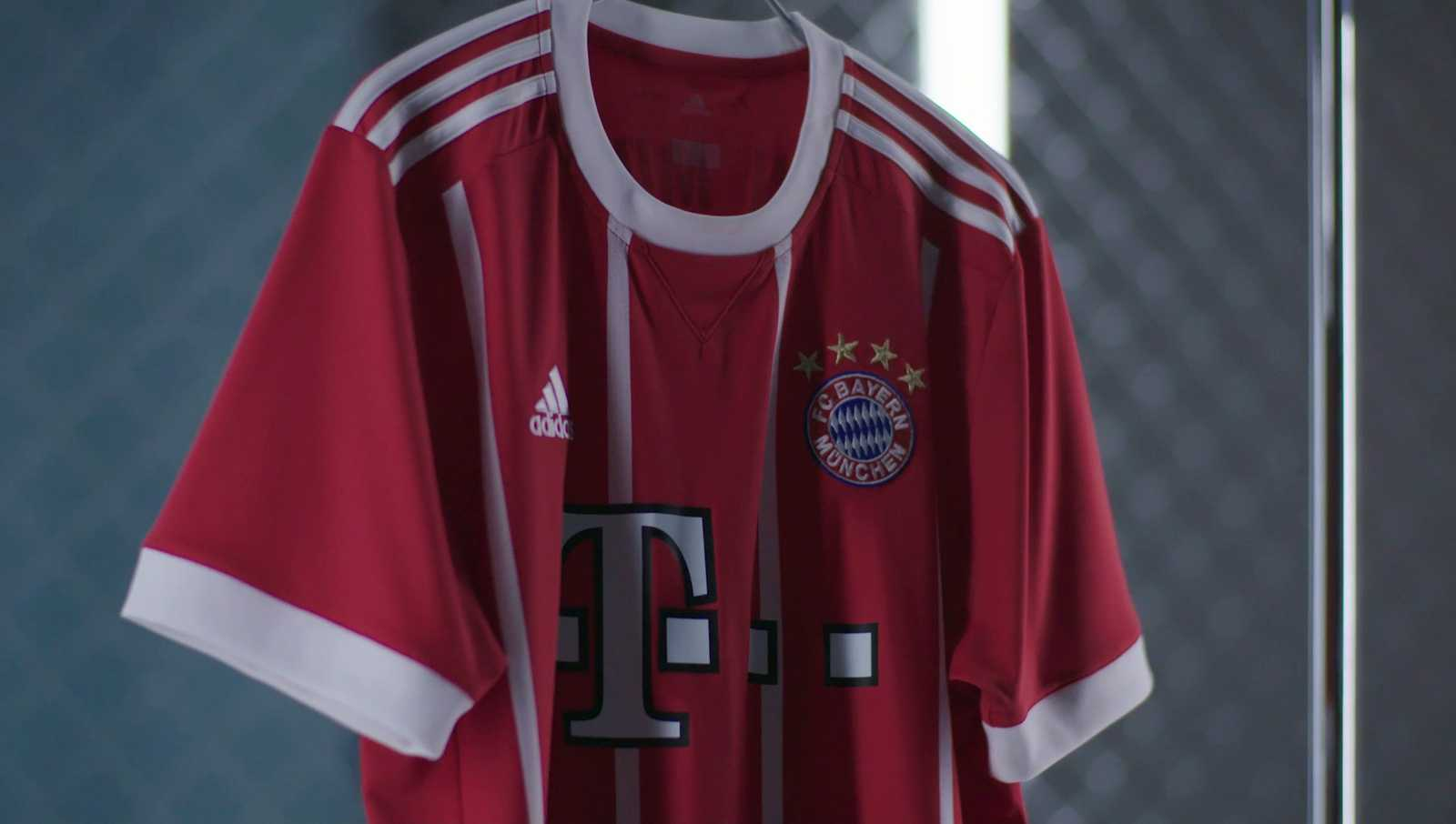 bayern munich 1718 home kit released footy headlines