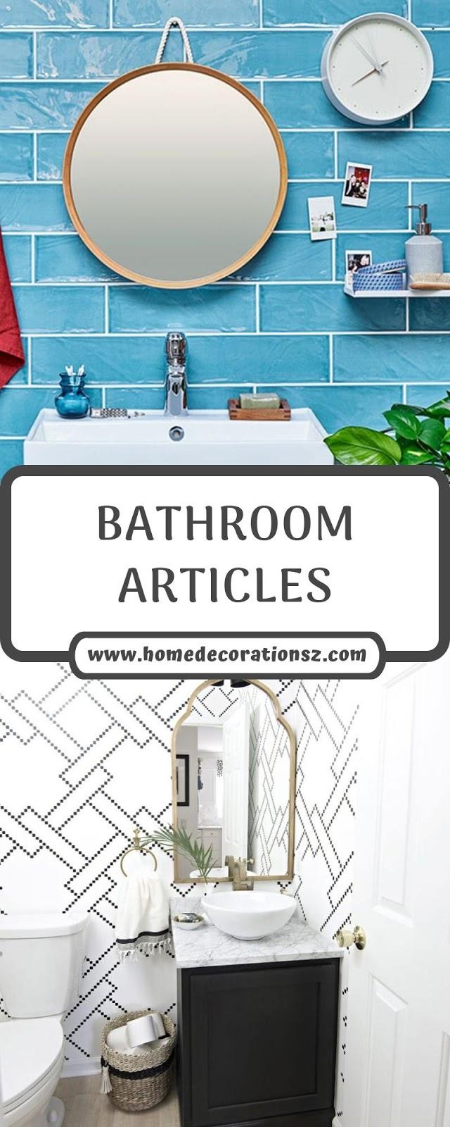 BATHROOM ARTICLES