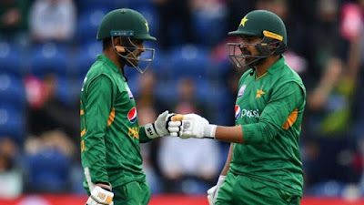 Babar Azam and Haris Sohail