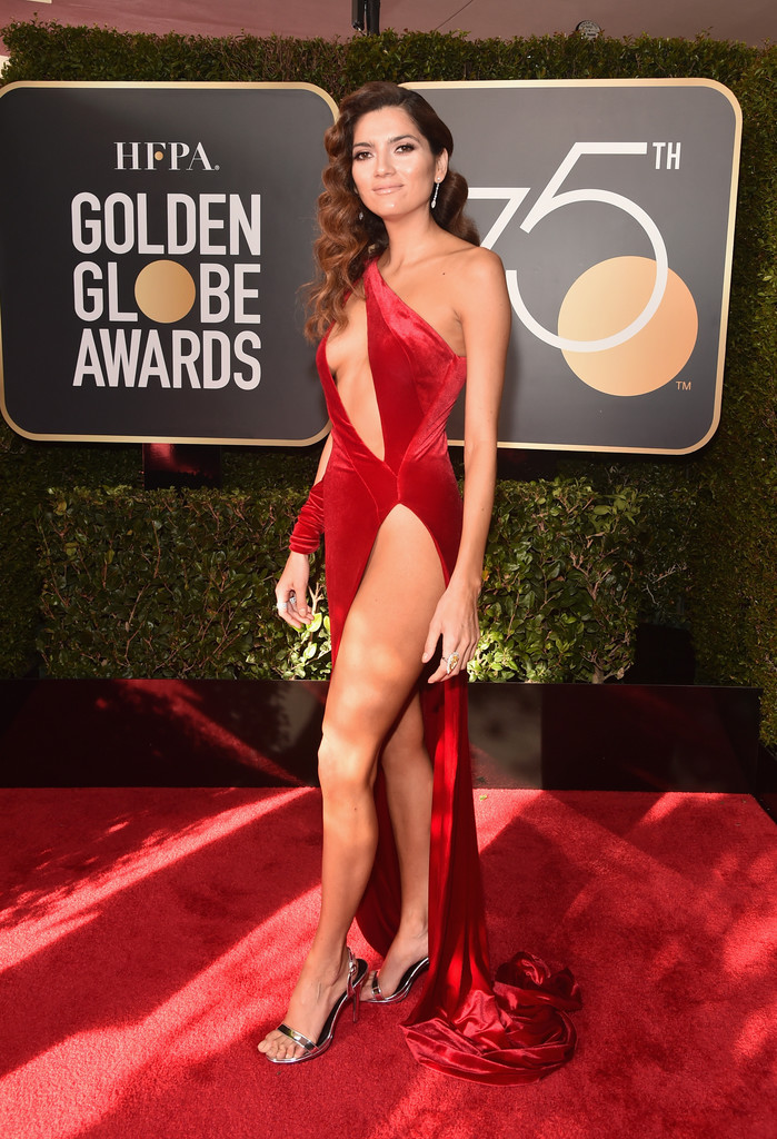 Blanca Blanco On the Red Carpet at Golden Globe Awards