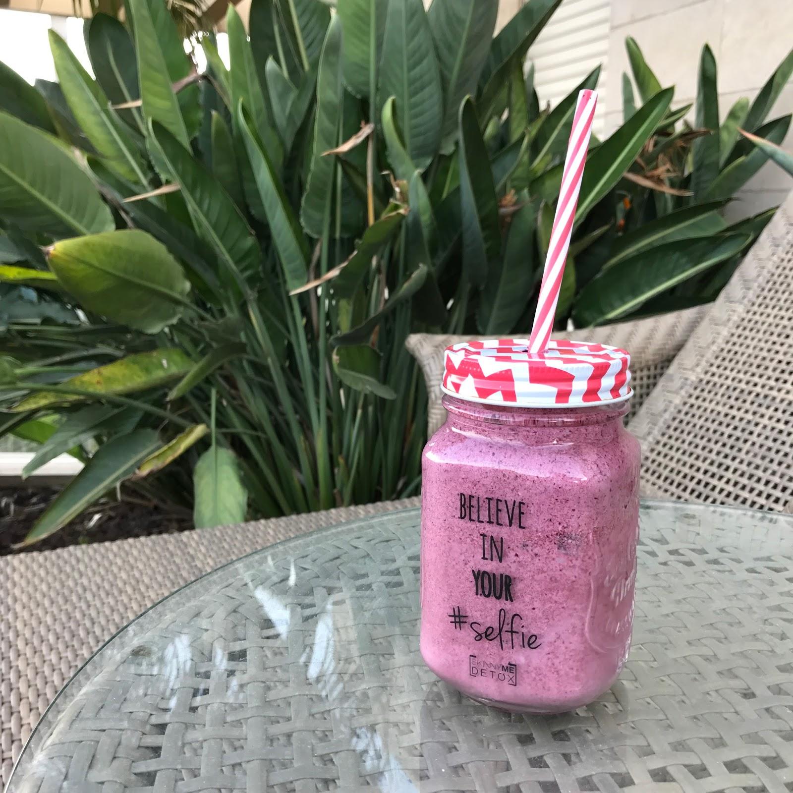ניקוי רעלים סקיני מי דיטוקס - סמודי אוכמניות - skinny me detox blberries smoothie