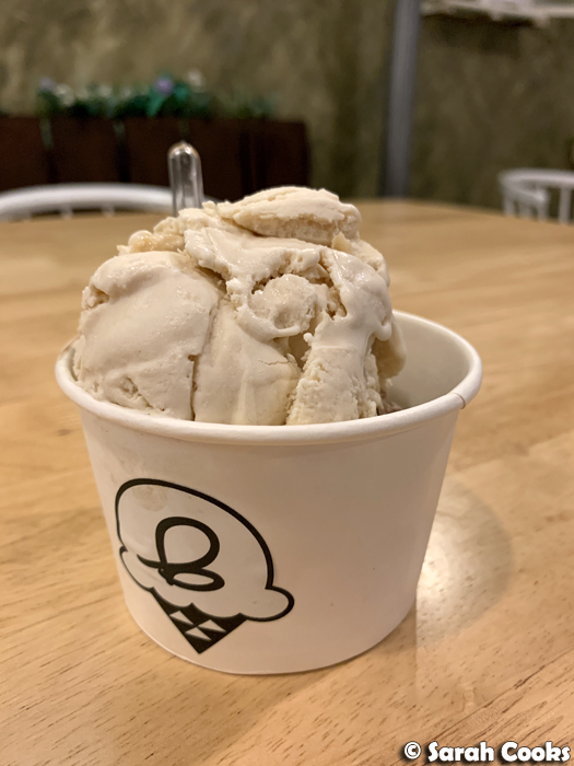 2 Scoops of ice-cream in a paper cup
