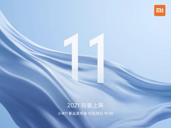 Xiaomi Mi 11 lançado a 28 de dezembro - primeiro Android com Snapdragon 888