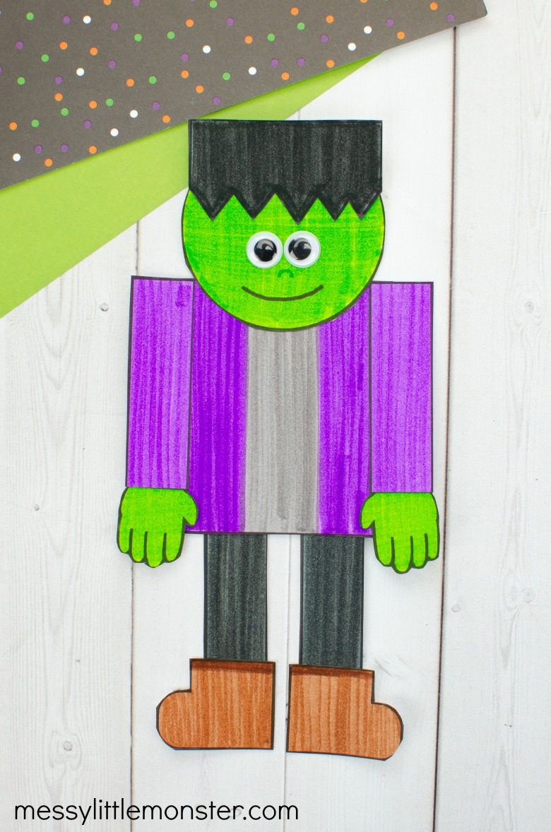 Halloween Frankenstein Paper Craft for Kids