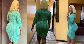Curvy OAP Moet Abebe Cause Commotion With Her Enormous Backside