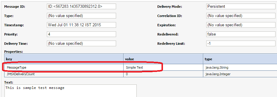 OSB Set JMS Custom Header Properties Testing