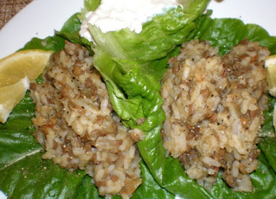 They are also vegetarian and gluten free Lebanese Mjadra - Lentil & Rice Lettuce Cups Recipe
