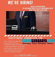 Walk In Interview at Hotel Sinar 1 Juanda Surabaya November 2019