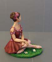 cake topper tema danza ballo idee regalo fidanzata punte danza rosa orme magiche