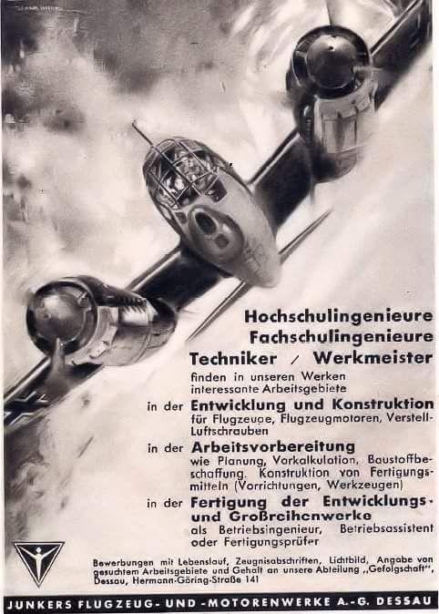 Junkers Fascist airplane ads worldwartwo.filminspector.com