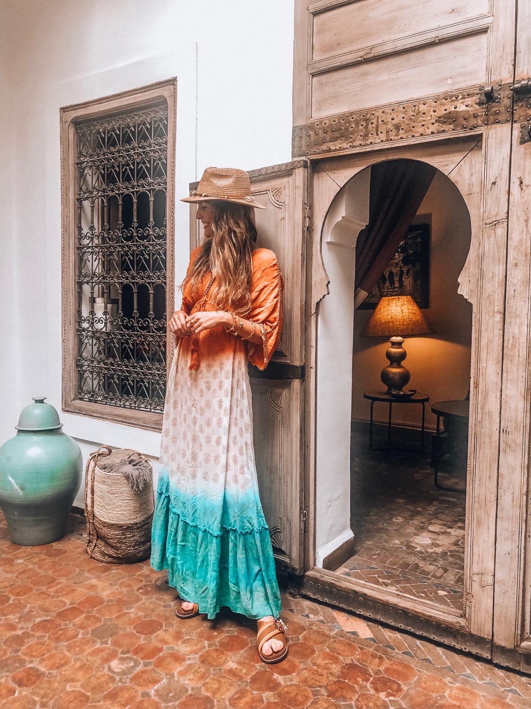 vestido estilo marroquí