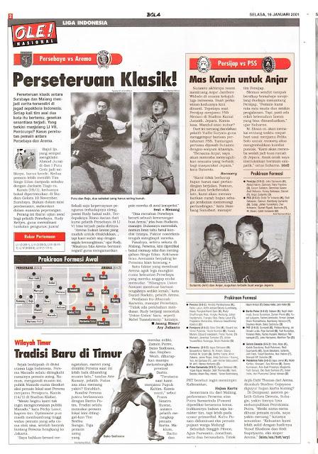 LIGA INDONESIA PERSEBAYA VS AREMA PERSETERUAN KLASIK