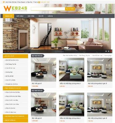 Thiết kế web bán hàng nội thất, xây dựng, đồ dùng gia đình