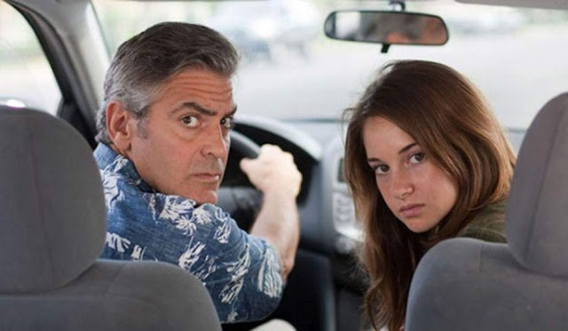 George Clooney y Shailene Woodley en un instante de la película