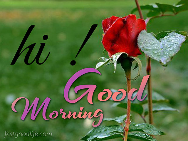 good morning image for cute girl
