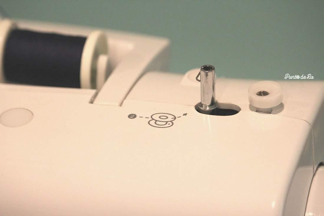 Máquina de coser, partes y funciones principales - Devanador de canilla