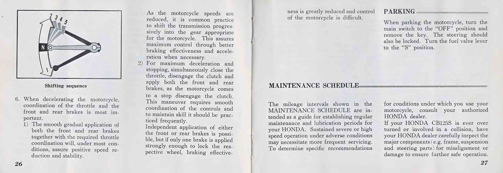 OB1 Repairs: Honda CB125S Owner's Manual