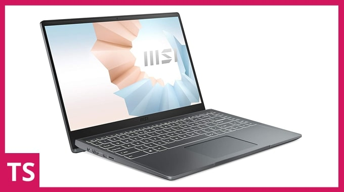 MSI Modern 14 B4MW - Best Slim, Lightweight, and Average-specs laptop for engineers