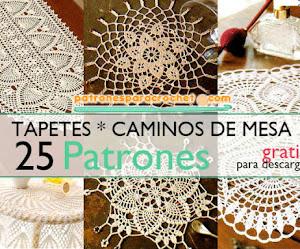 25 Patrones de Tapetes Variados a Crochet / Patrones